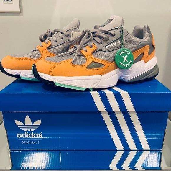 c7077dfcc adidas Shoes   Falcon Light Granite Easy Orange   Poshmark